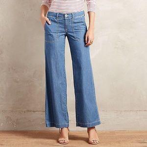Pilcro | Women's Wide Leg Chambray Jeans
